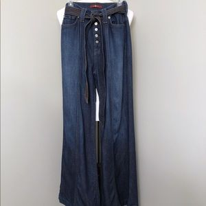 7 for all mankind flare leg button fly jeans